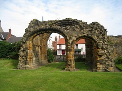 The remains of the outer porch of the great gate of Gisborough Priory