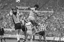 Van Gaal (right) playing for Sparta Rotterdam in 1983 against Feyenoord's Ruud Gullit