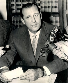 Greenberg as general manager of the Cleveland Indians in 1957