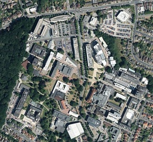 Aerial view of the Highfield Campus