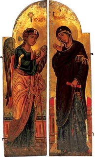 Holy Doors from Saint Catherine's Monastery, Mount Sinai, depicting the Annunciation, c. 12th century