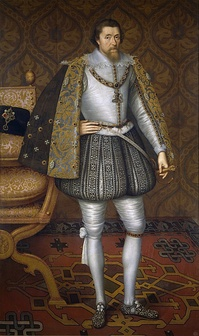 King James I of England/VI of Scotland, the first monarch to rule the Kingdoms of England and Scotland at the same time