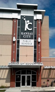 Headquarters of the Kansas City Public Schools, which serves the inner core of the city limits