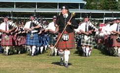Massed bands at the 2005 Pacific Northwest Highland Games[83]