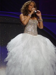 Carey performing at a concert in Las Vegas in 2010