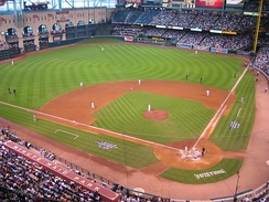 Minute Maid Park, previously called Enron Park and Astros Field, is the Astros' current home ball park, and the Astros have played seven Opening Day games there through 2008.