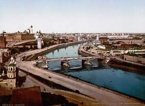 Moskva riverside in the 19th century.