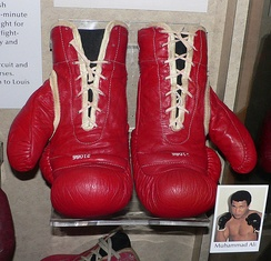 Muhammad Ali's boxing gloves are preserved in the Smithsonian Institution National Museum of American History.