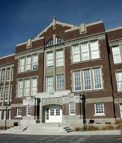 Old Albuquerque High, built in 1914 (Victorian and Gothic styles were used in the late 19th and early 20th centuries)