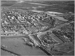 View of the city of Marysville, 1940
