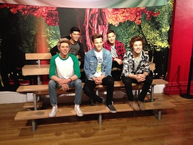 One Direction waxwork at Madame Tussauds, London