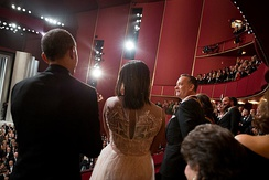 Hanks with President Barack Obama and First Lady Michelle Obama at the Kennedy Center Honors