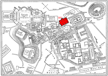 Location of the basilica in the Roman Forum.