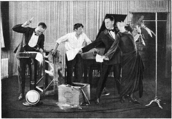 "WGY Radio Players performing a dramatic scene from William Vaughn Moody's ""The Great Divide"" (1923)"