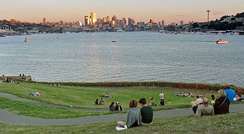 Downtown Seattle from Gas Works Park