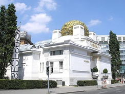 The Secession Building, Vienna, built in 1897 by Joseph Maria Olbrich for exhibitions of the Secession group