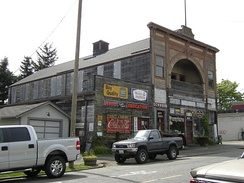 The Alcazar Opera House, built in 1892, later became an agricultural supply store and is now one of Snohomish's many antiques stores.