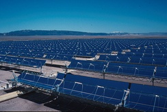 Solar Energy Generating Systems, located in the Mojave Desert.