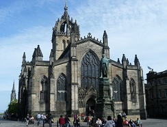 The High Kirk of Edinburgh, also known as St Giles' Cathedral