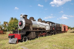 Steam locomotive at Inhambane, 2009.