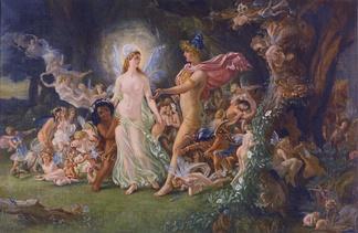 Картина Джозефа Ноэля Патона «Ссора Оберона и Титании» по мотивам комедии Шекспира «Сон в летнюю ночь»