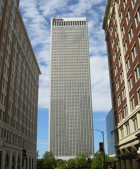 The BOK Tower of Tulsa, Oklahoma's second tallest building, serves as the world headquarters for Williams Companies.