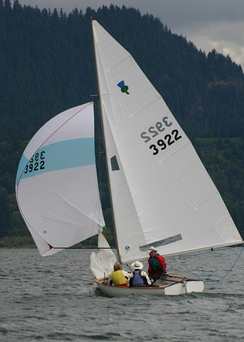 Sailcloth is typically made from PET fibers also known as polyester or under the brand name Dacron; colorful lightweight spinnakers are usually made of nylon.