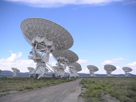 The Very Large Array (VLA): a 27-dish interferometer 60 miles (97 km) west of Socorro, with headquarters on the New Mexico Tech campus.