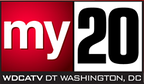 "WDCA's first ""My 20 logo"", used from May to June 2006."