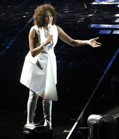Whitney Houston at the O2 Arena, April 28, 2010, as part of her Nothing but Love World Tour