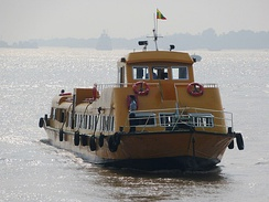 Yangon Water Bus plies the Yangon (Hlaing) River between Botahtaung and Insein every hour throughout the day.