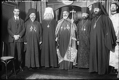 Bishop Aftimios Ofiesh (second right) with the 1921 pan-Orthodox gathering of bishops