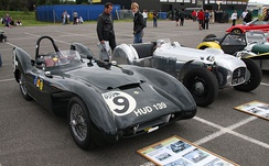Lotus Mark IX beside a Lotus Mark VI