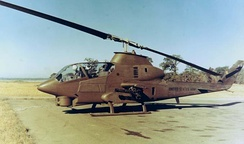 The AH-1 Cobra used in Vietnam served as inspiration for the design of the dropship