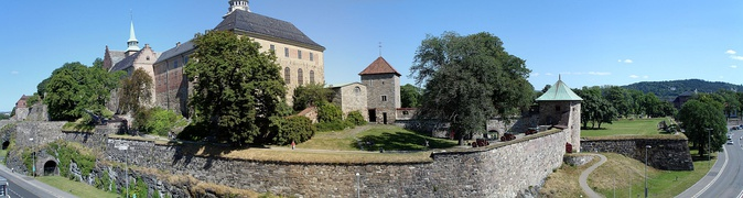 Panorama of Akershus Castle from the seafront