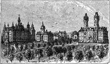 Drawing of Vanderbilt University's Main Campus from Appletons' Cyclopedia of American Biography (1889)