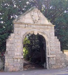 Archway on street at the entrance to Park House