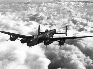 Lancaster LM446 of no. 619 Squadron, coded PG-H