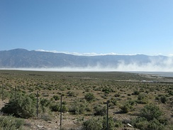 Alkali dust storm at Owens Lake