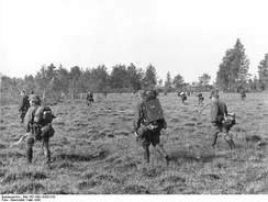 SS Cavalry Division on a Bandenbekämpfung sweep, May 1943