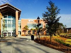 The HTC Center is home to the Chanticleer basketball teams, student recreation center and campus bookstore