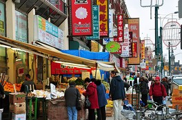 Toronto's Chinatown. The everyday use of, and availability of services in, many languages is promoted by municipal government.