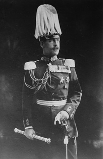 King Constantine I in a German Field Marshal's uniform. His pro-German sympathies caused him to favour a course of neutrality in the First World War.
