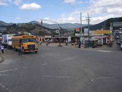 The Cuatro Caminos intersection outside the city.