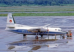 Biman Bangladesh Airlines Fokker F27-600 in 1974, ten years prior to the accident