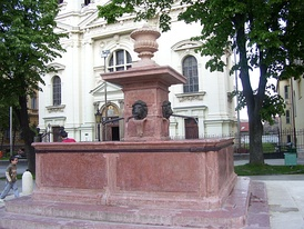 "Fountain ""Four Lions"" after reconstruction"