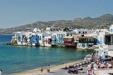 Traditional styled white houses in Mykonos, Cyclades