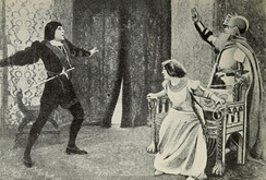 Hamlet. Jacques Grétillat, left, and Gabrielle Colonna-Romano, right.