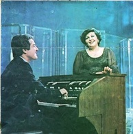 Haydeh and Anoushirvan on the Iranian National Television, in 1975.