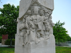 Statue representing the signing of the Treaty of the Holston in Downtown Knoxville